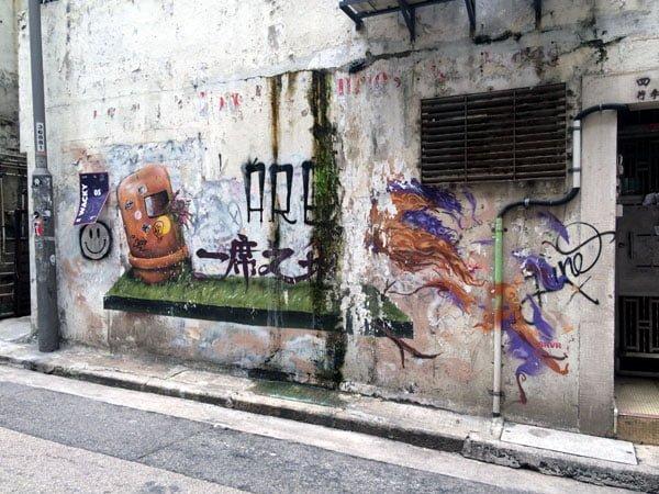 Hong Kong Street Art - Dustbin