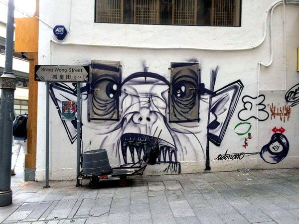 Hong Kong Street Art - Shing Wong St
