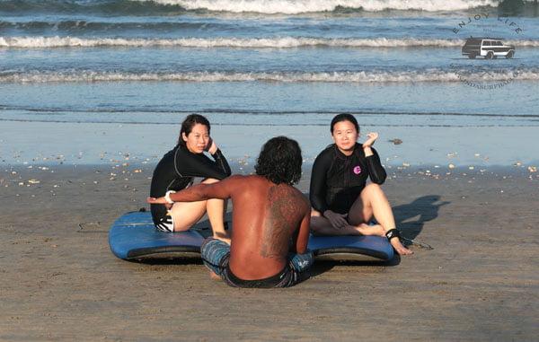 Bali Indasurf Lesson Time