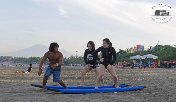 Bali Indasurf Lessons on Stance