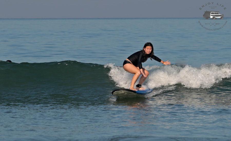 Bali Indasurf Surfing Closeup