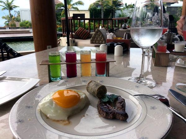 Bali Samabe Breakfast Eggs and Beef