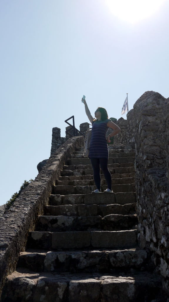 Portugal - Sintra Moorish Castle Pose