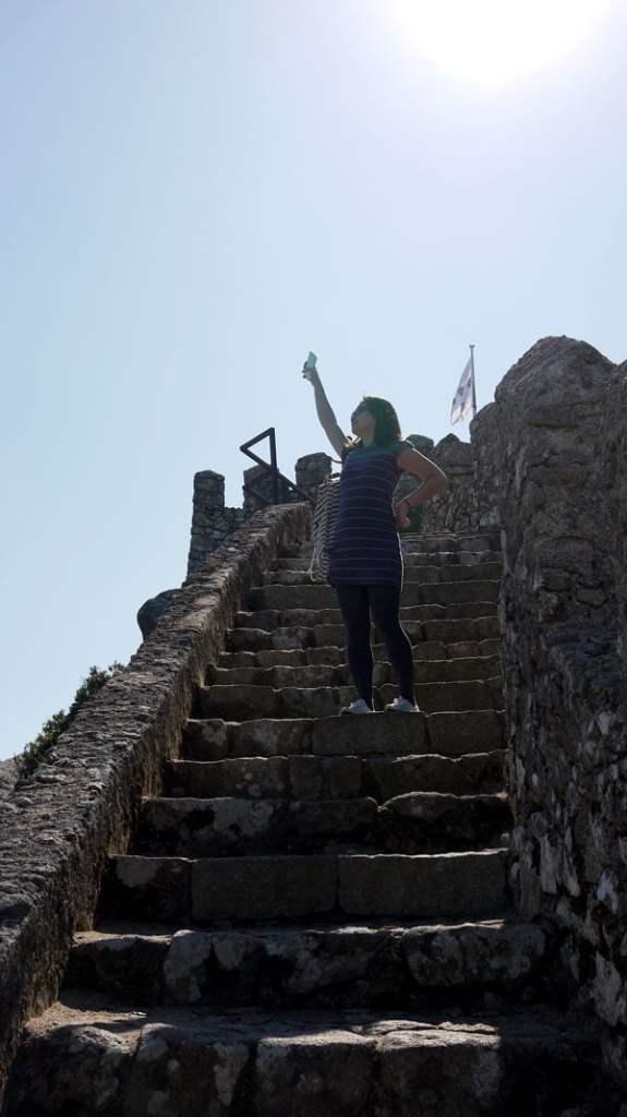 Portugal - Sintra Moorish Castle Pose