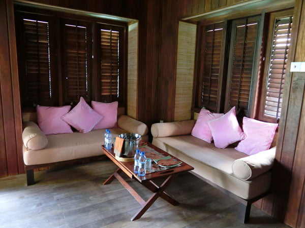 Club Med Kani Maldives Lagoon Suite Couch