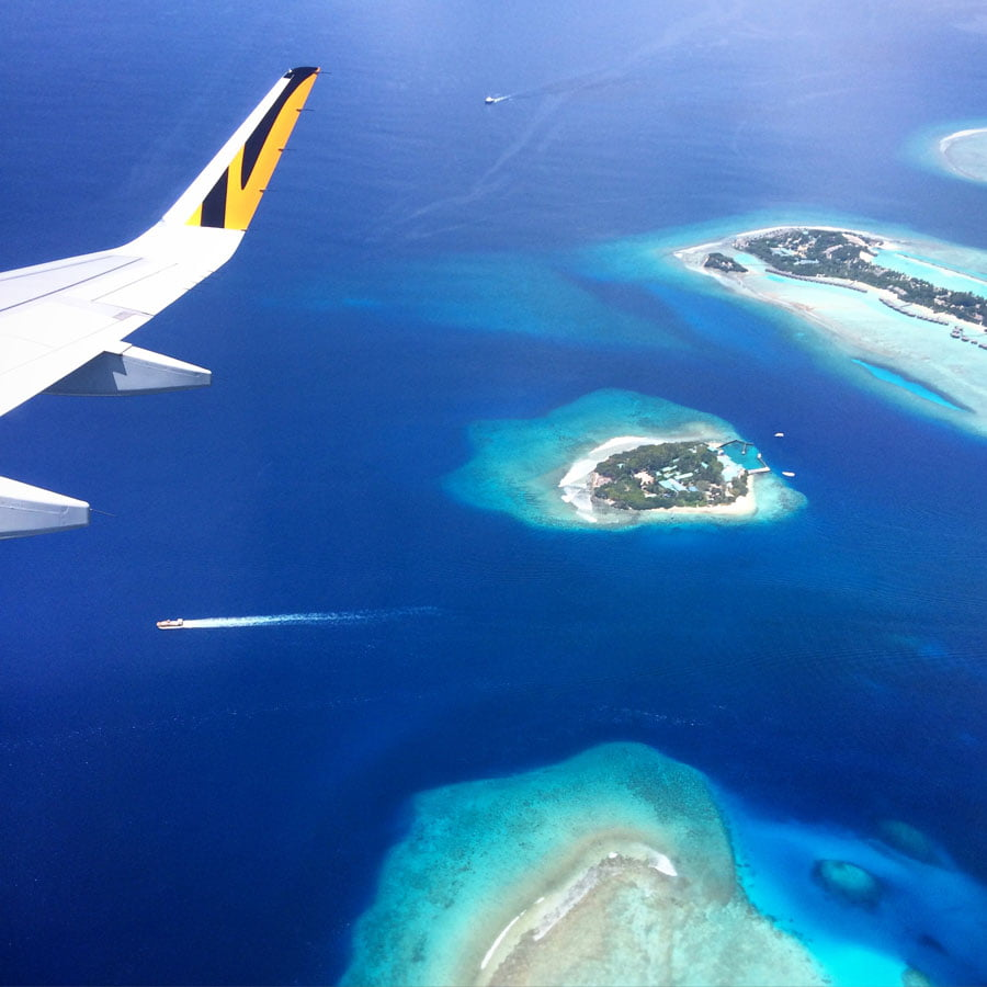 Club Med Kani Maldives Plane Blue Waters