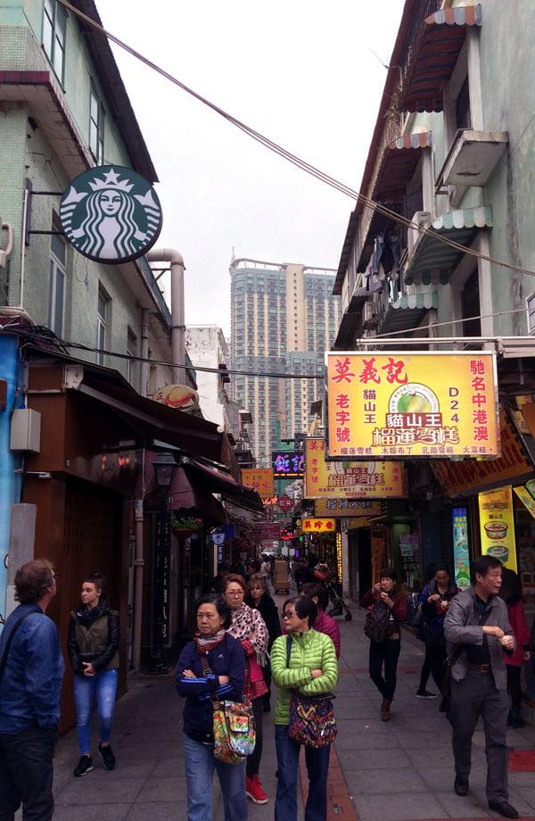Macau Taipa Rua do Cunha new and old