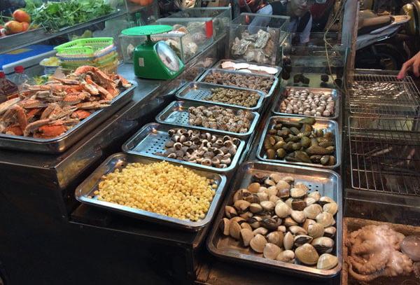 Vietnam Ho Chi Minh Vespa 662 Seafood