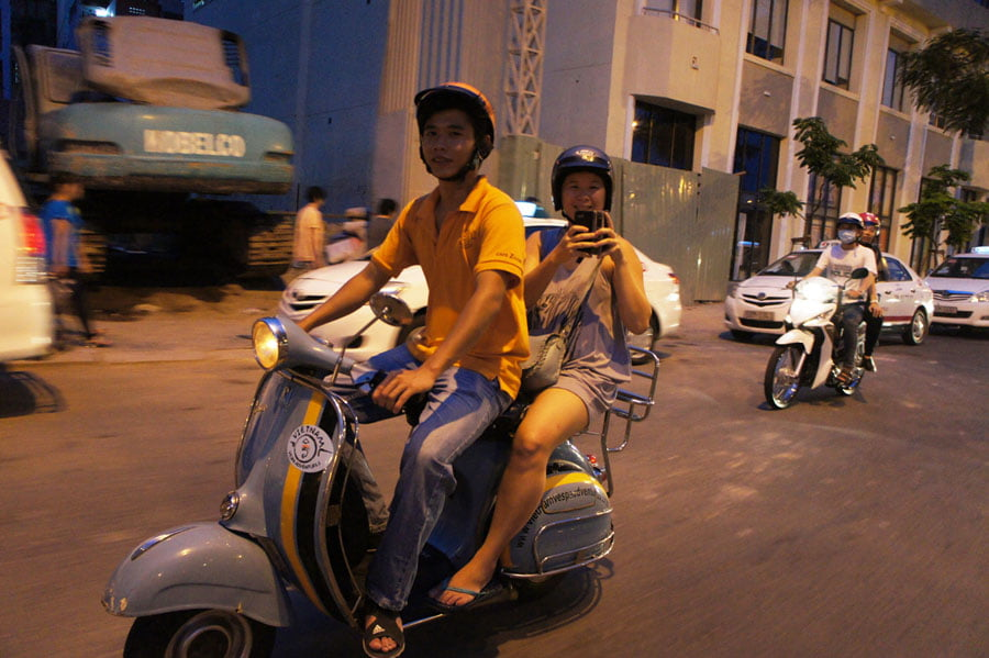 Exploring Ho Chi Minh City from the back of a Vespa