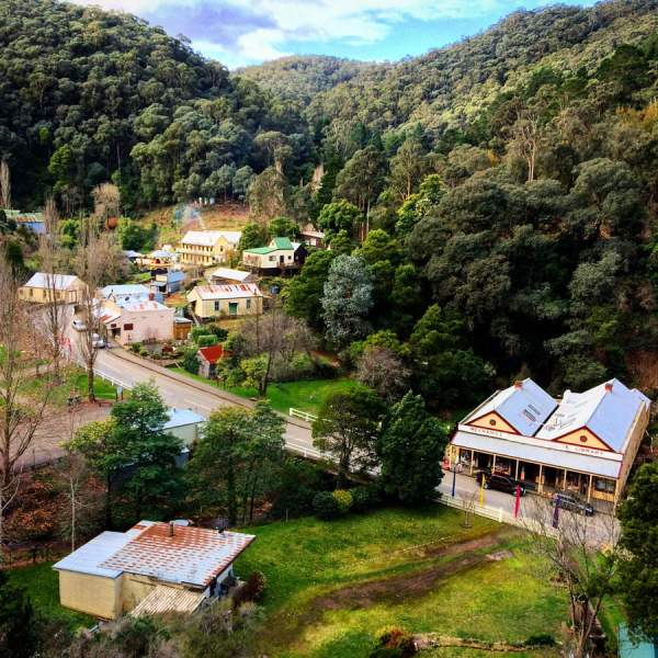 Gippsland Walhalla Town Top View Day