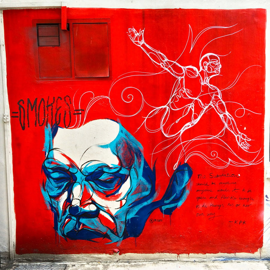 Where to find Street Art in Singapore – Bugis and Bras Basah