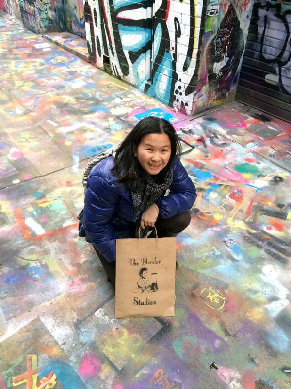 Melbourne Street Art - Blender Alleyway Floor