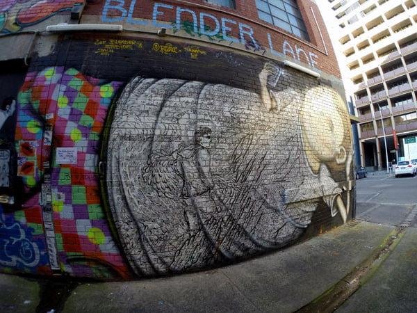 Melbourne Street Art - Blender Entrance