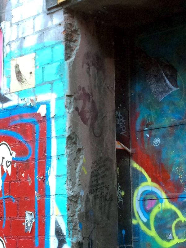 Melbourne Street Art - Duckboard Banksy Rat 2