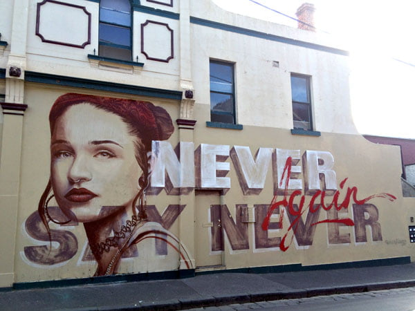 Melbourne Street Art - FItzroy Rone Never