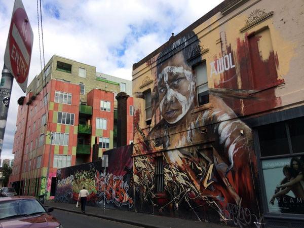 Melbourne Street Art - Fitzroy AdNate Boy