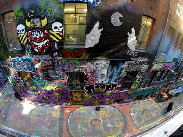 Melbourne Street Art - Rutledge Lane Carpark Looking Down