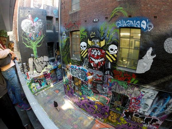 Melbourne Street Art - Rutledge Lane View from Carpark