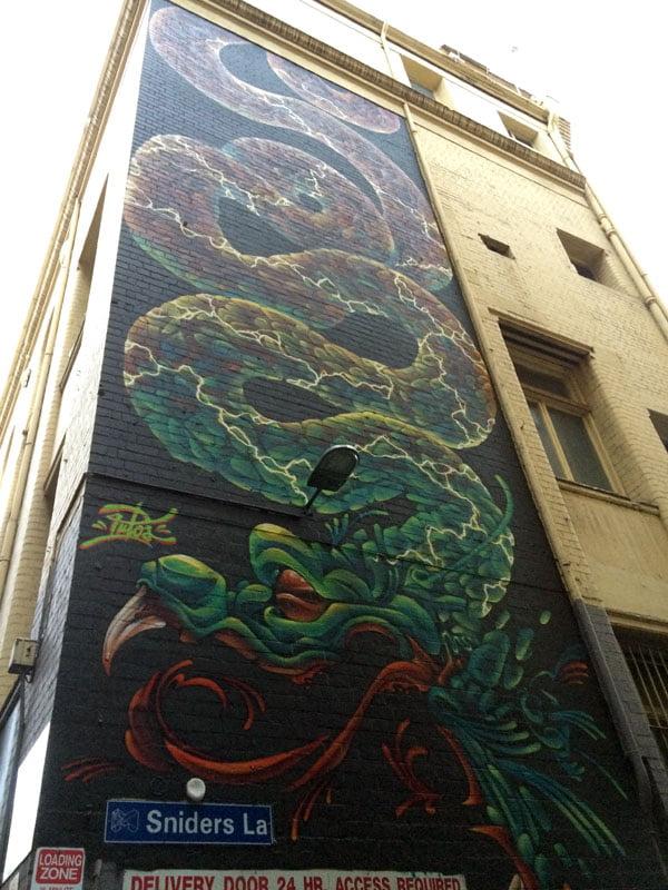 Melbourne Street Art - Sniders Lane Dragon