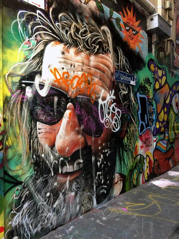 Melbourne Street Art - Union Lane Entrance