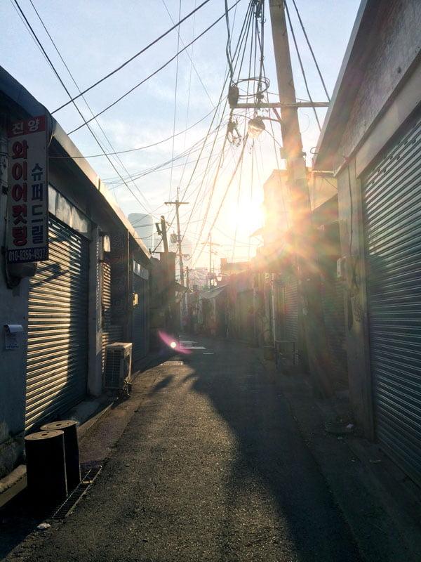 Seoul Mullae Alleyway Sunset