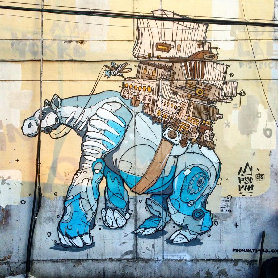 Where to find street art in Seoul – Ihwa, Mullae, Apgujeong, Hongdae