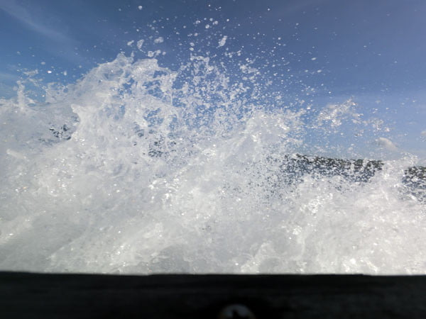 Bali Casio Snorkeling Boat Waves
