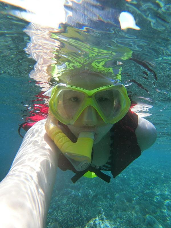Bali Casio Snorkeling Underwater Selfie