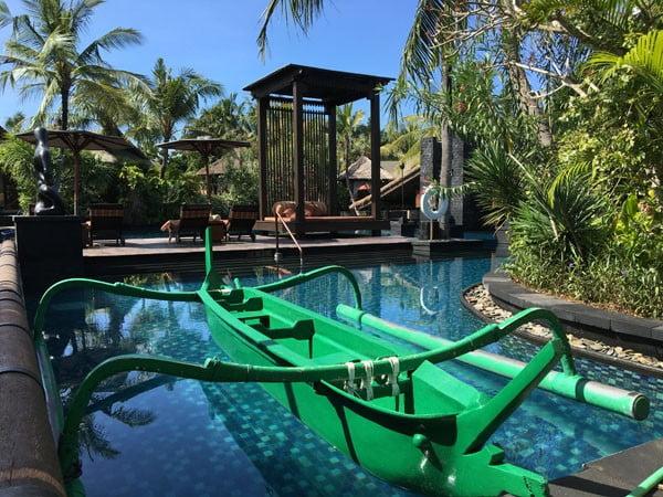 Bali St Regis Freshwater Pool Boat