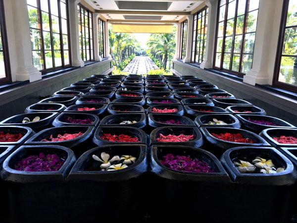 Bali St Regis Stairs Flowers