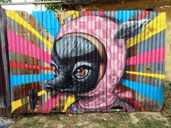 Penang Street Art - Hin Bus Depot Muebon Gate