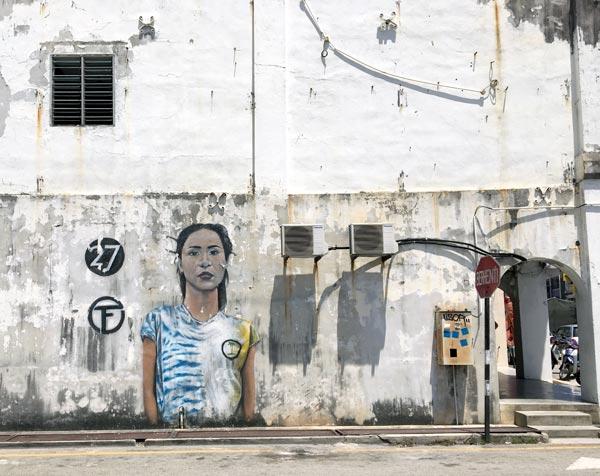 Penang Street Art - Lebuh Tye Sin Girl