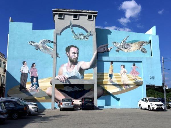 Penang Street Art - Raja Uda Martin Ron