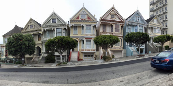 San Francisco - Painted Ladies Pano