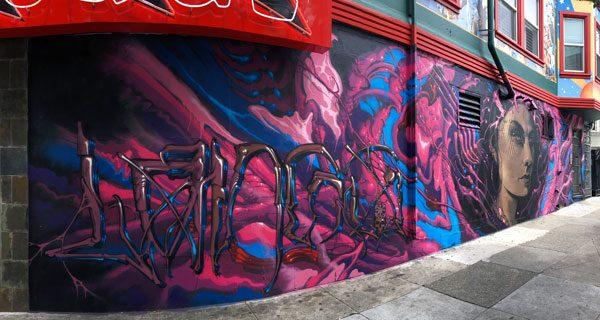 San Francisco Street Art Haight Ashbury Pink