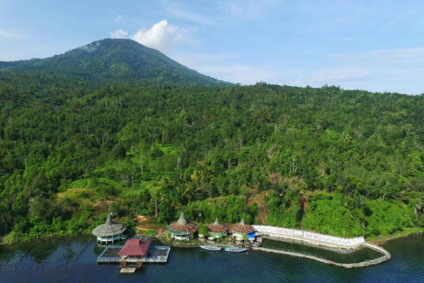 South Sumatra Ranau Lake Hot Spring Drone Rendy