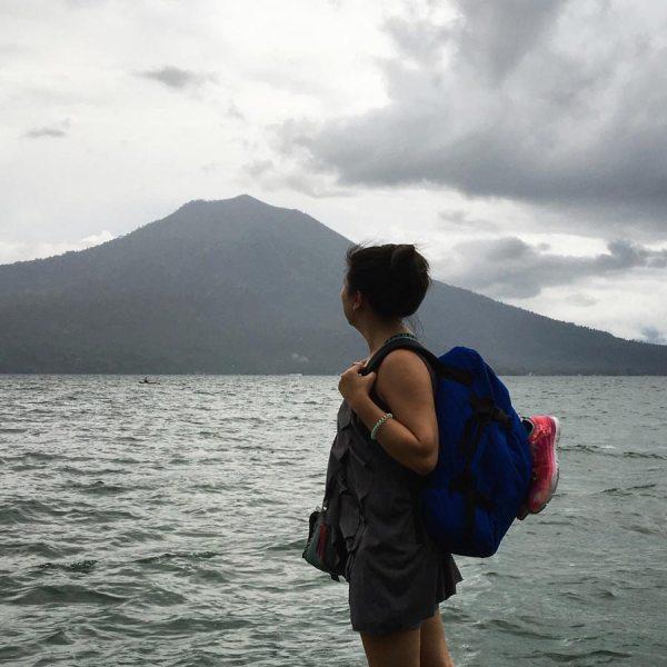 South Sumatra Ranau Lake WIsma Pusri Jetty Shot
