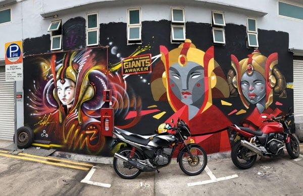 Singapore Street Art - Aliwal Slac Clogtwo Inkten Star Wars