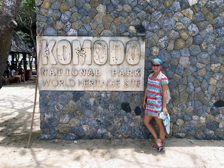 Flores Komodo Loh Liang Entrance Sign