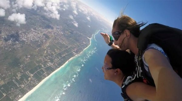Kenya Diani Beach Skydive View