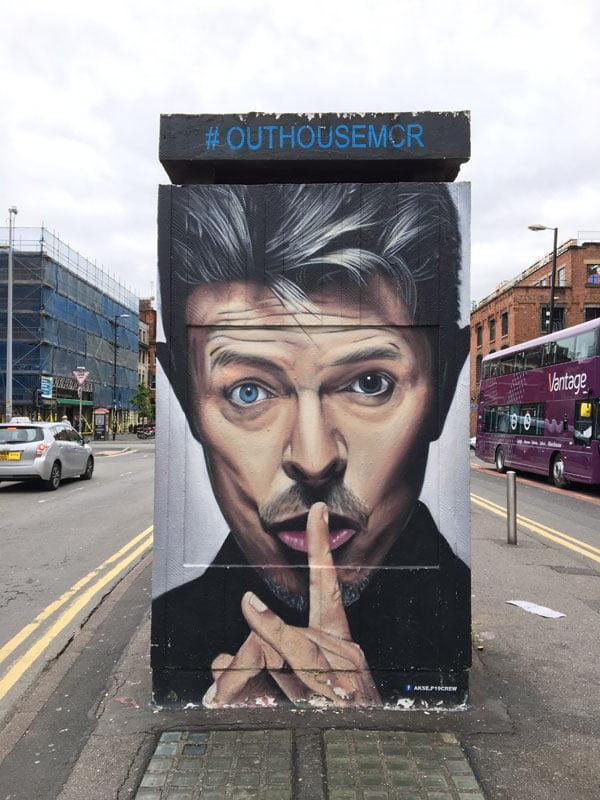 Manchester Street Art Akse David Bowie