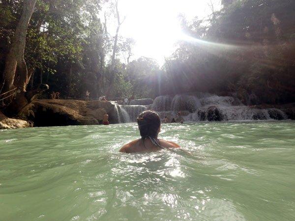 Laos Luang Prabang Kuang Si Swim