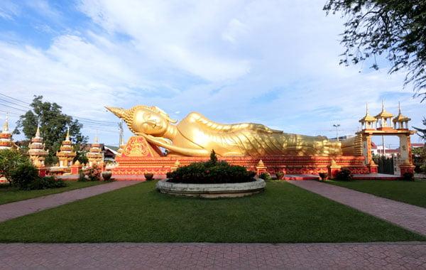 Laos Vientiane Luang Reclining Buddha