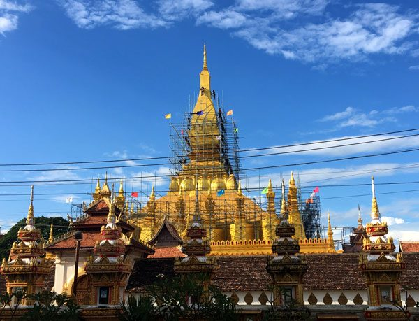 Laos Vientiane Luang Stupa