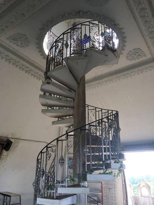 Laos Vientiane Patuxai Spiral Stairs
