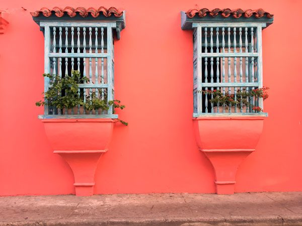 Colombia Cartagena Windows Red