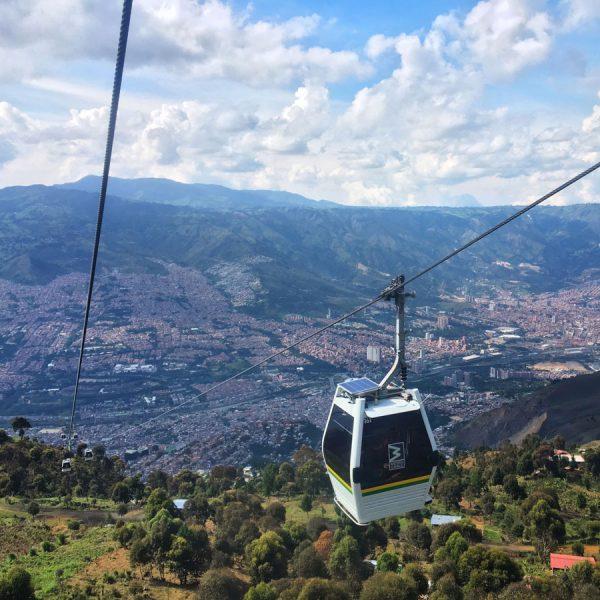 Colombia Medellin Parque Arvi Cable Car