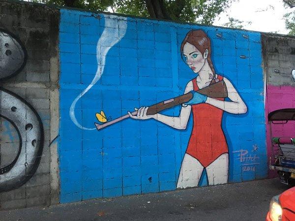 Bangkok Street Art CKR soi 32 phai