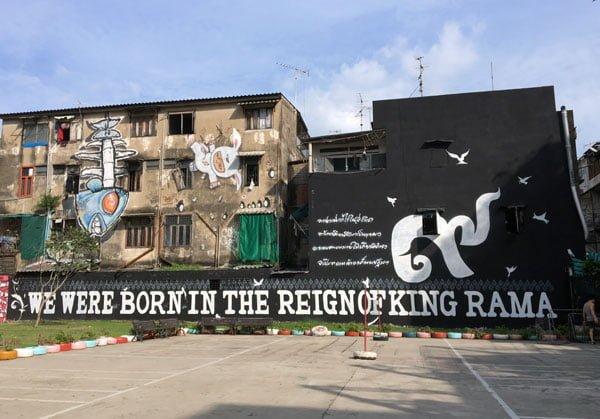 Bangkok Street Art Chalerma Park 2