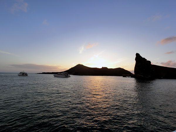 Galapagos Bartolome Island Pinnacle Rock Sunset